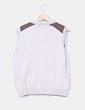 Chaleco tricot beige combinado con polipiel Lloyd's
