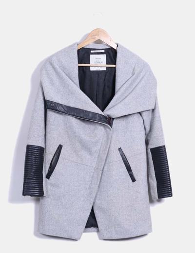 Bershka abrigo gris