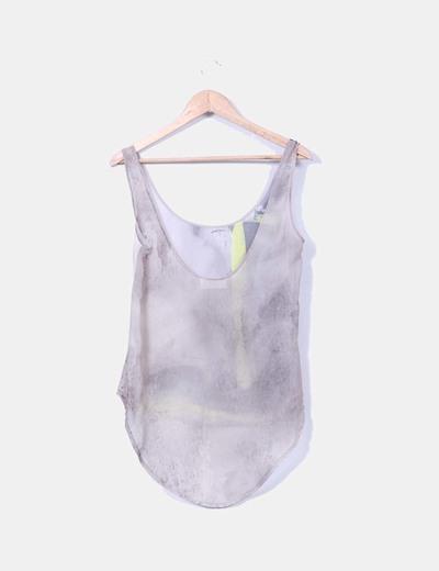 Blusa estampada semitrasnparente