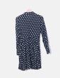 Vestido camisero azul print Zara