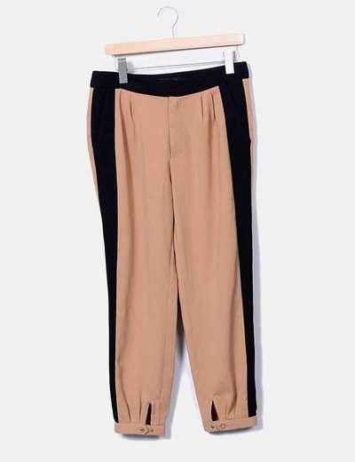 Pantalón camel combinado