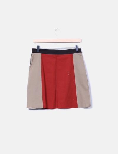 Mini falda tricolor