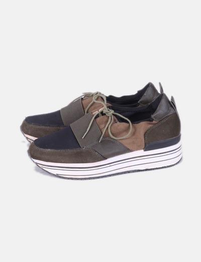 Zapatillas verdes con elastico