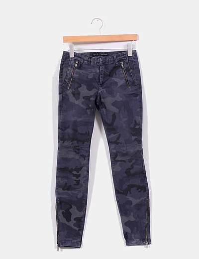 Zara Micolet Camuflaje descuento Pantalón 71 Azul f8wR8qaxrp 9deeca1f41b