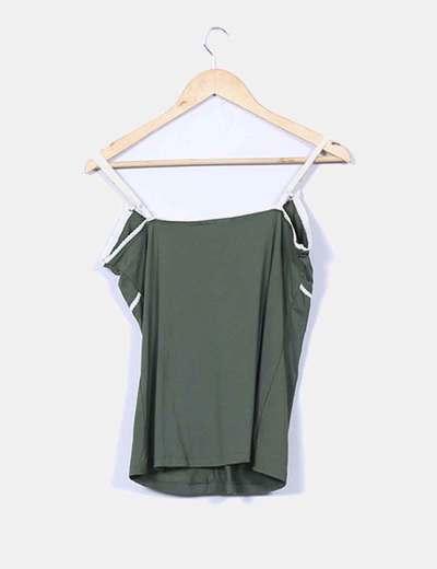 Top lencero verde combinado