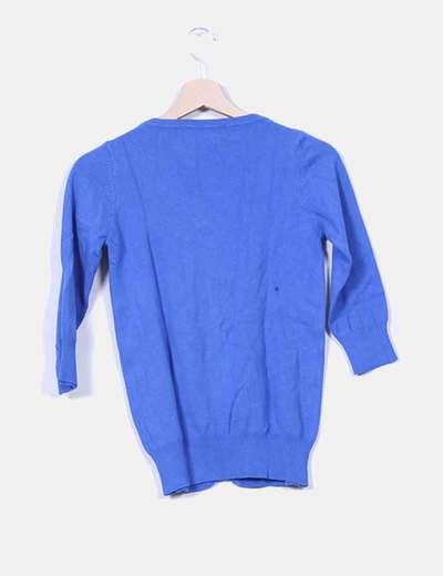 Chaqueta tricot azul klein