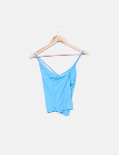 Camiseta azul de tirantes