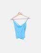 T-shirt bleu à bretelles Lacoste