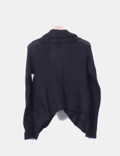 Chaqueta de lana azul marino