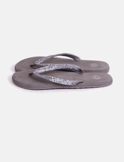 Sandalia de dedo glitter Reef