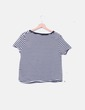 Camiseta de rayas manga corta Zara