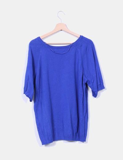 Jersey azul de punto