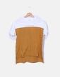 Camiseta bicolor print texto Zara