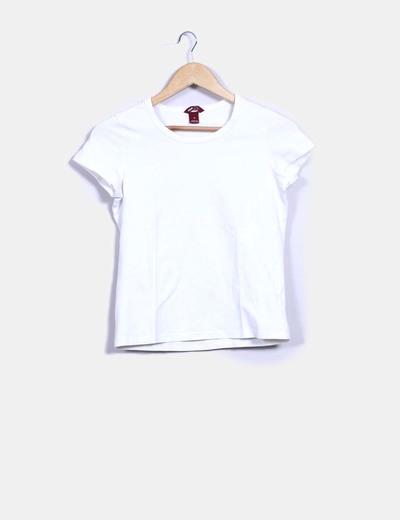 726ac2c8a6df4 H M Camiseta blanca básica manga corta (descuento 87%) - Micolet
