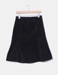 Falda midi negra de pana Zara