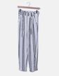 Pantalón baggy blanco rayas negras Bershka