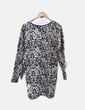 Vestido neopreno animal print Zara