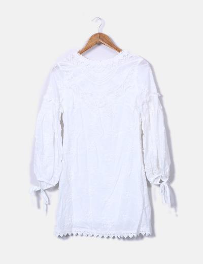 Robe blanche boho Puri Puritas