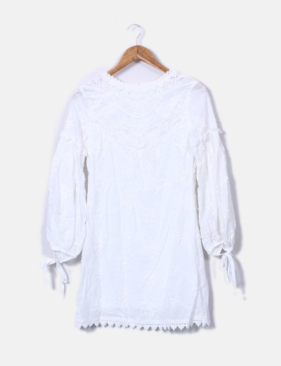 Vestido boho branco Puri Puritas