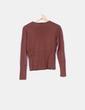 Suéter marrón detalle cinturón Gonnella