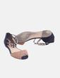 Sandalia negra combinada con tobillera Zara