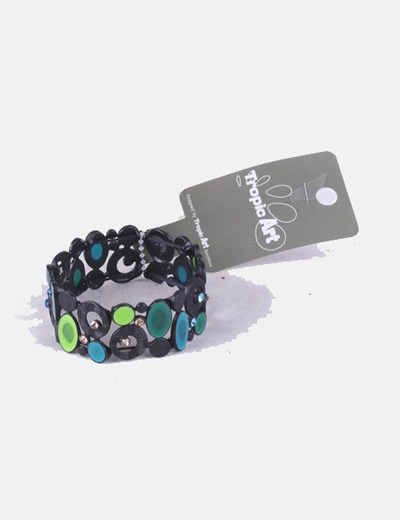 Bracelet black combined Tropic Art