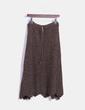 Falda de punto marrón midi Cortefiel