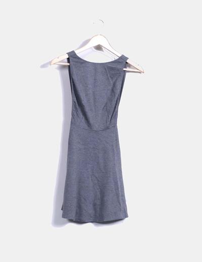 American apparel vestido gris evas escote espalda for Ariadne artiles medidas