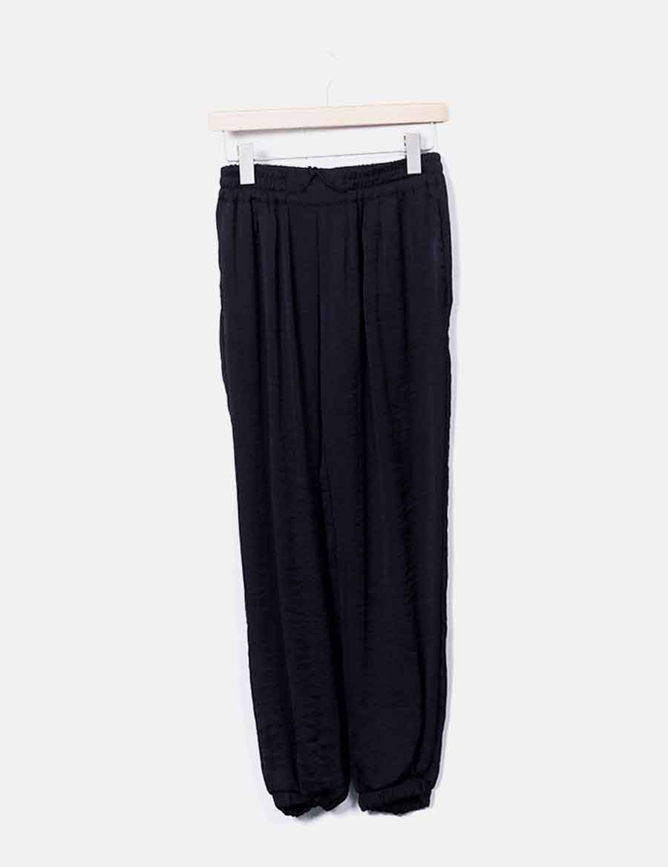 Baratos Negro Baggy Pantalón Pantalones 5z4xzwqi Zara Mujer Satinado  qUzqrfw4 da62885965b3