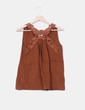 Top marrón detalle crochet  Pull & Bear