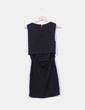 Vestido negro sin mangas bordado H&M