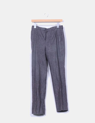 Pantalón de pinzas jaspeado Lasserre