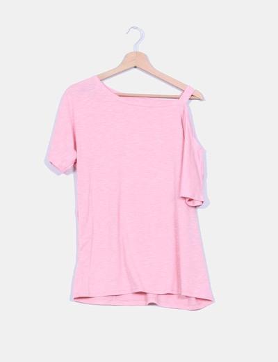 Maxi camiseta manga corta detalle tirante caido NoName