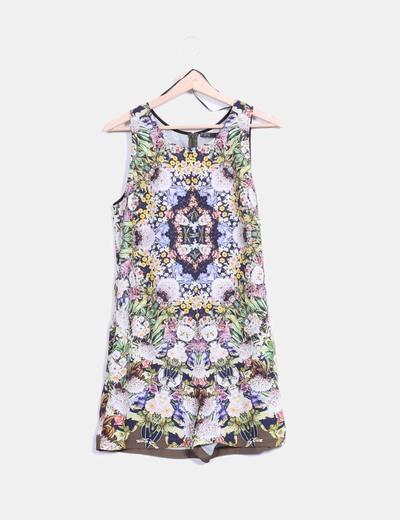 Mono kaki floral Zara