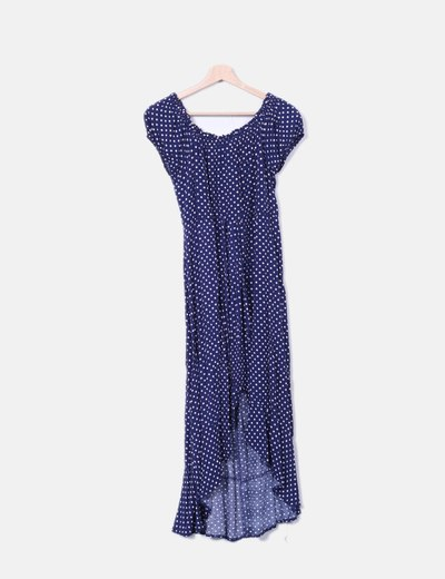 Kleid blau weibe punkte
