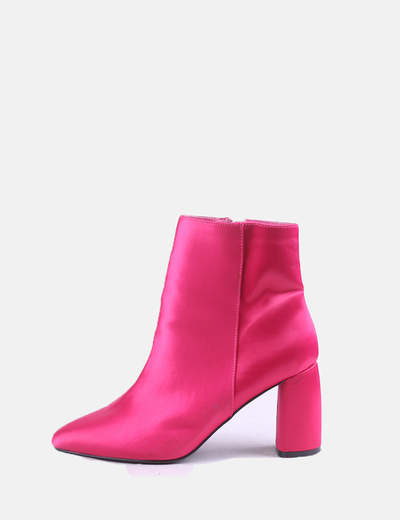 Pink satin ankle boots NA-KD