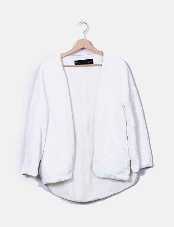 62adc6030b9 Texturizada Baratos Abrigos Mujer Y Blazer Blanca Zara Online OSqnER