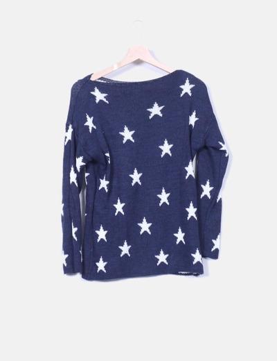 Jersey azul marino print estrellas NoName