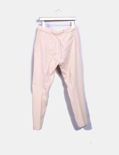 Pantalon nude con lazo