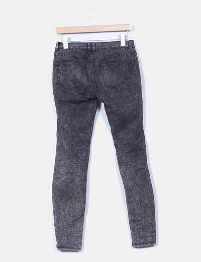 Pantalon negro efecto envejecido