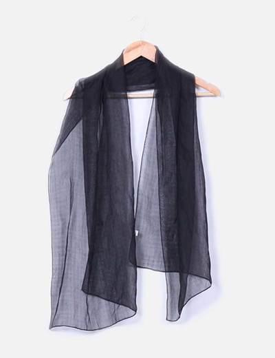 Pañuelo negro semitransparente NoName