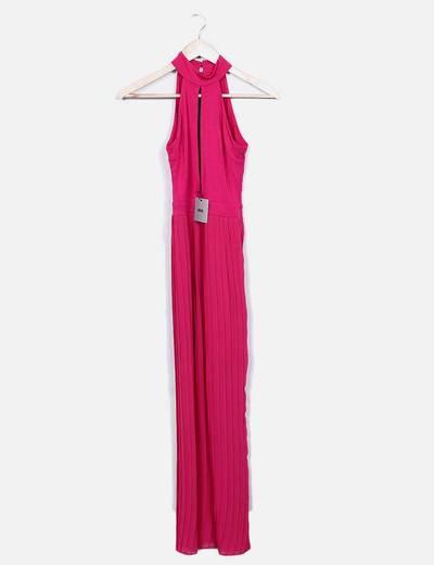 Vestido plisado fucsia Asos