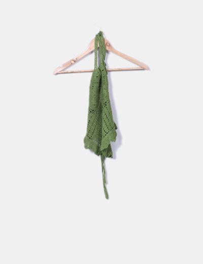 Crop top verde crochet
