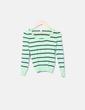 Jersey verde con rayas azul marino Primark