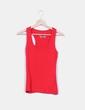 Camiseta básica roja espalda nadadora Pimkie