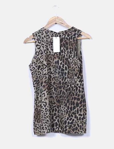 Top verde animal print estampado