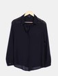 Blusa negra semitransparente Forever 21