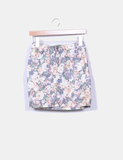 Falda estampado floral Pull&Bear