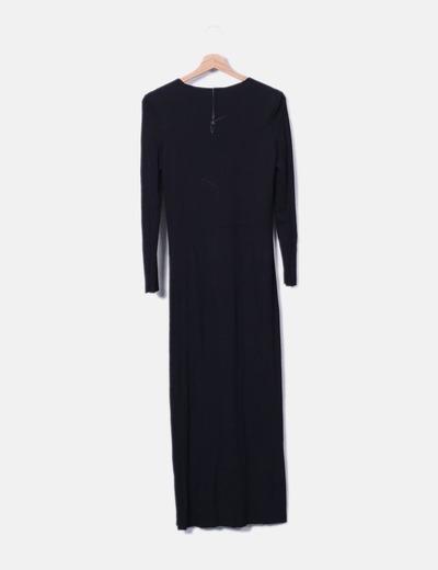 Vestido Largo Vestido Aberturas Negro Largo Con 29IHWED