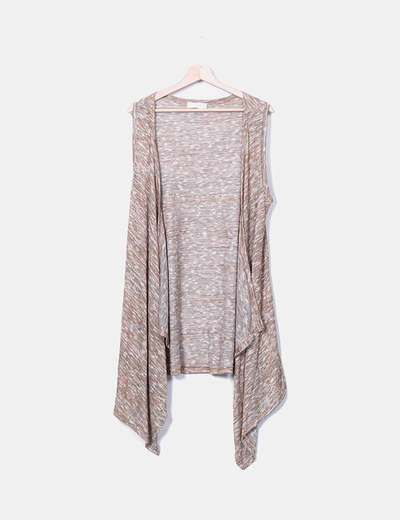 Chaleco largo tricot camel So Sweet